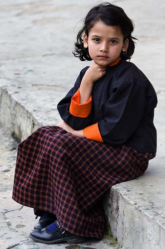 フリー画像| 人物写真| 子供ポートレイト| 少女/女の子| 外国の子供| ブータン/人物