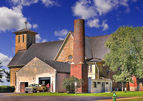 フリー画像| 人工風景| 建造物/建築物| 教会/聖堂| HDR画像| アメリカ風景| ウィスコンシン州|