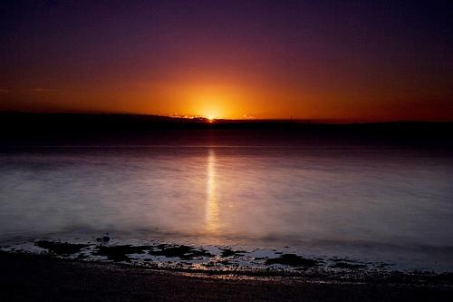 フリー画像| 自然風景| 海の風景| 水平線/地平線| 夕日/夕焼け/夕暮れ|