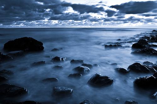 フリー画像| 自然風景| 海の風景| 海岸の風景| 青色/ブルー|