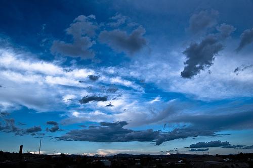 フリー画像| 自然風景| 空の風景| 雲の風景| 青色/ブルー|