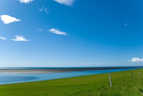 フリー画像| 自然風景| 空の風景| 海の風景| 青色/ブルー| アイスランド|