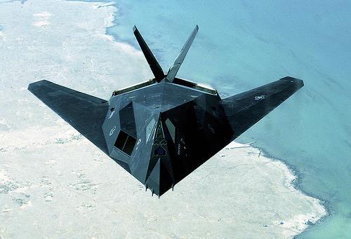 フリー画像| 航空機/飛行機| 軍用機| 攻撃機| F-117 ナイトホーク| F-117 Nighthawk|
