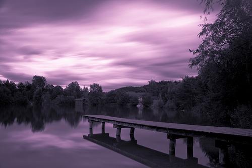 フリー画像| 人工風景| 湖の風景| ドック/船渠| 紫色/パープル| オーストリア風景|