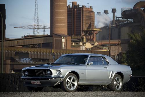 フリー画像| 自動車| フォード/Ford| フォード マスタング| Ford Mustang 1969 Coupe| 工場の風景| アメ車|