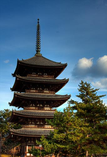 フリー画像| 人工風景| 建造物/建築物| 神社/仏閣/寺院| 五重塔| 興福寺| 日本風景|     フリー素材|