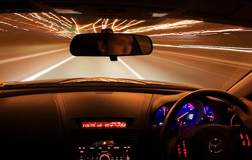フリー画像| 自動車| 運転席| 夜景| マツダ/MAZDA| マツダ RX-8| MAZDA RX-8| 日本車|    フリー素材|