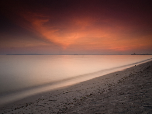 フリー画像| 自然風景| ビーチ/海辺| 海の風景| 朝日/朝焼け|       フリー素材|