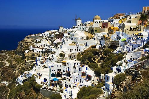 フリー画像| 人工風景| 建造物/建築物| 街の風景| サントリーニ島| ギリシア風景|      フリー素材|