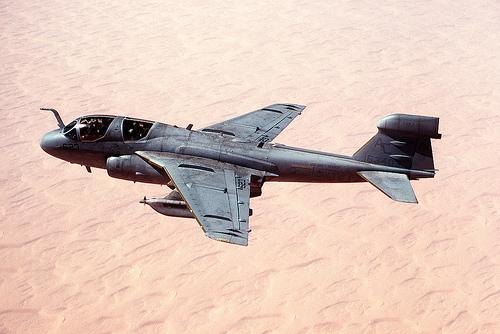 フリー画像  航空機/飛行機  軍用機  電子戦機  EA-6B プラウラー  EA-6B Prowler       フリー素材 