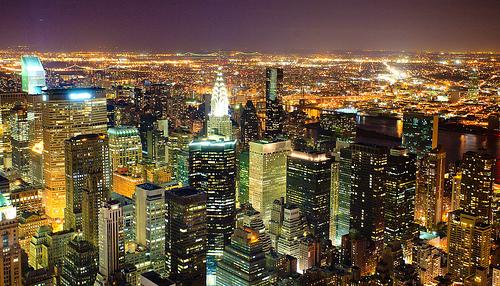 フリー画像| 人工風景| 建造物/建築物| 街の風景| 夜景| アメリカ風景| ニューヨーク|     フリー素材|