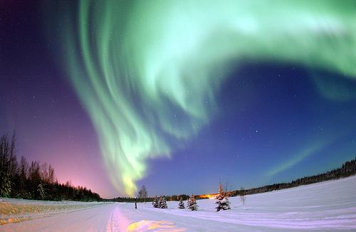 フリー画像|自然風景|空の風景|オーロラ|夜空の風景|夜景|アメリカ風景|フリー素材|