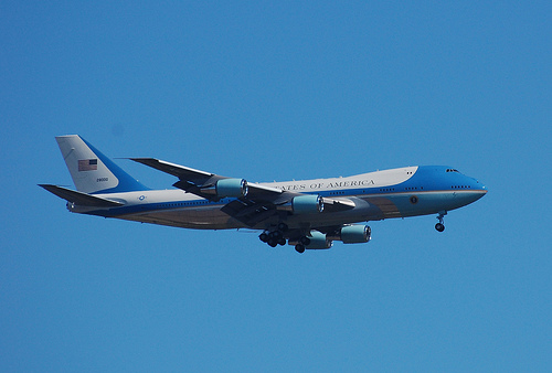 フリー画像| 航空機/飛行機| 軍用機| エアフォースワン| VC-25|       フリー素材|