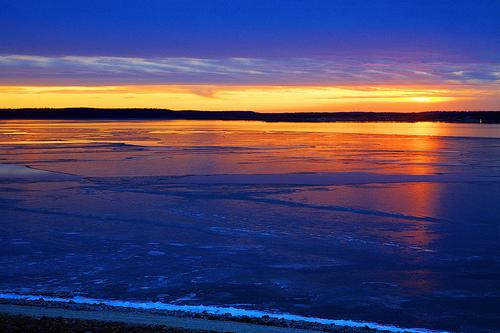 フリー画像| 自然風景| 湖の風景| 夕日/夕焼け/夕暮れ|        フリー素材|