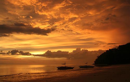 フリー画像| 自然風景| 空の風景| 雲の風景| 海の風景| 夕日/夕焼け/夕暮れ| フィリピン風景| ネグロス島|    フリー素材|