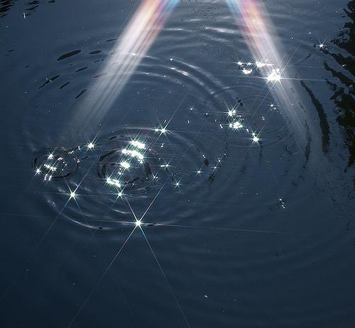 フリー画像| 自然風景| 波紋| 太陽光線|        フリー素材|
