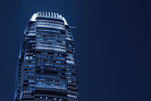 フリー画像  人工風景  建造物/建築物  ビルディング  夜景  中国風景  香港      フリー素材 