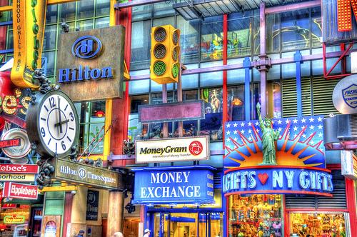 フリー画像| 人工風景| 建造物/建築物| アメリカ風景| HDR画像| ニューヨーク| タイムズスクウェア|     フリー素材|