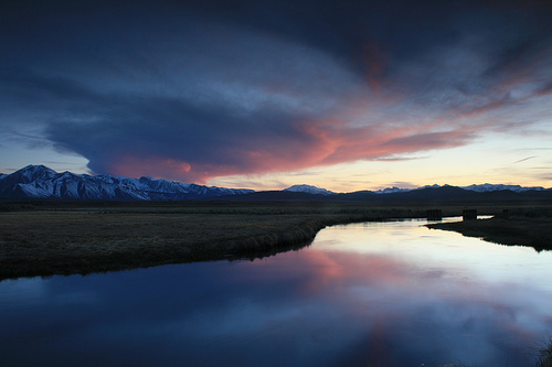 フリー画像| 自然風景| 河川の風景| 夕日/夕焼け/夕暮れ| アメリカ風景|       フリー素材|