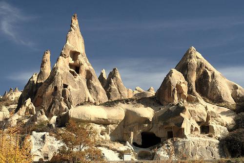 フリー画像|自然風景|カッパドキア|世界遺産/ユネスコ|山の風景|岩山の風景|トルコ風景|フリー素材|