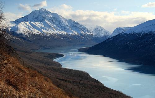 フリー画像  自然風景  山の風景  湖の風景  ツインピークス  アメリカ風景       フリー素材 