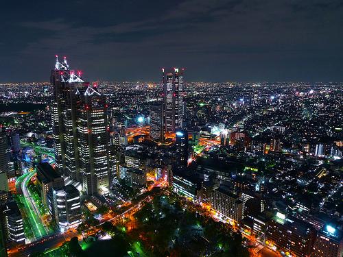 フリー画像| 人工風景| 建造物/建築物| 街の風景| 夜景| ビルディング| 日本風景| 東京|    フリー素材|