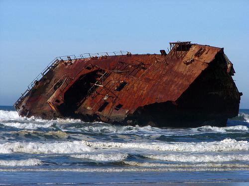 フリー画像| 船舶/ボート| 座礁船| ビーチ/海辺|        フリー素材|
