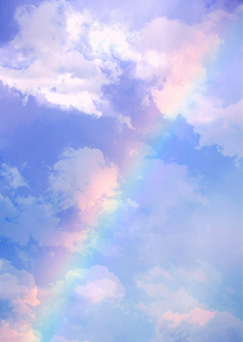 フリー画像| 自然風景| 空の風景| 虹の風景| 青色/ブルー|       フリー素材|