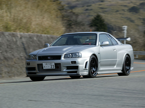 フリー画像| 自動車| スポーツカー| 日産/Nissan| 日産 スカイライン| Nissan Skyline GT-R R34| 日本車|     フリー素材|