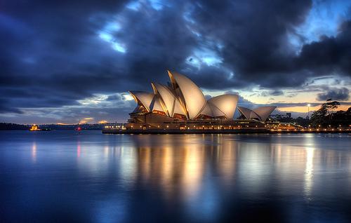 フリー画像  人工風景  建造物/建築物  シドニー・オペラハウス  オーストラリア風景  シドニー       フリー素材 