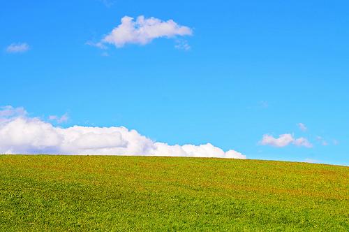 フリー画像| 自然風景| 草原の風景| 空の風景| 丘の風景|       フリー素材|