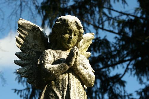 フリー画像| 人工風景| 彫刻/彫像| 天使/エンジェル| 祈り/祈る|       フリー素材|